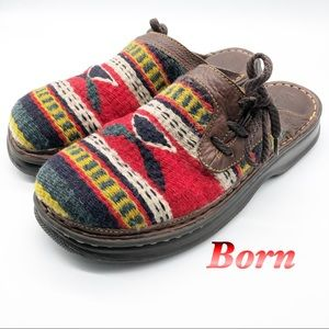 Born Leather Fabric Mule Aztec inspired 10